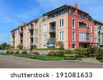 modern apartment buildings in... | Shutterstock . vector #191081633