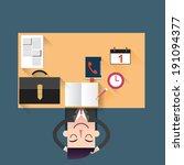 businessman relaxing in the... | Shutterstock .eps vector #191094377