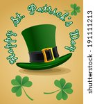green st. patrick's day hat... | Shutterstock .eps vector #191111213