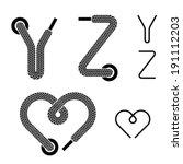 Vector Shoe Lace Alphabet...