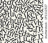 seamless letter pattern | Shutterstock .eps vector #191112527