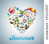 vector love heart summer...