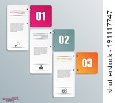 abstract 3d paper infographic   Shutterstock .eps vector #191117747