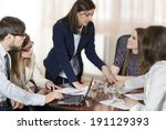 business people working as a... | Shutterstock . vector #191129393