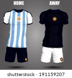 argentina soccer jersey | Shutterstock .eps vector #191159207