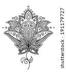 persian paisley design in retro ... | Shutterstock .eps vector #191179727