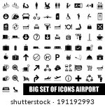 set of icons airport on white... | Shutterstock .eps vector #191192993