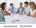 casual business team having a... | Shutterstock . vector #191196107