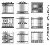 Vector Decorative Fences Set