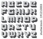 Vector Geometric Font. Square...