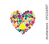 bubbles and heart | Shutterstock . vector #191216507