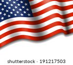 american flag stars   stripes... | Shutterstock .eps vector #191217503