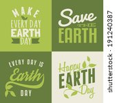 a set of four typographic... | Shutterstock .eps vector #191240387