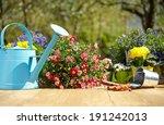 outdoor gardening tools and... | Shutterstock . vector #191242013