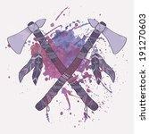 vector grunge illustration of... | Shutterstock .eps vector #191270603