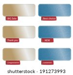 set of color labels with red... | Shutterstock .eps vector #191273993