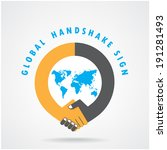 handshake abstract sign vector... | Shutterstock .eps vector #191281493