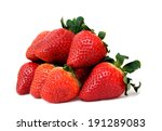 A Pile Of Strawberry On White...