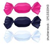 set of candies in color...   Shutterstock .eps vector #191332043