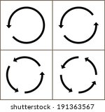 4 rotate arrow icon sign.... | Shutterstock .eps vector #191363567