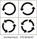 4 rotate arrow icon sign....   Shutterstock .eps vector #191363633