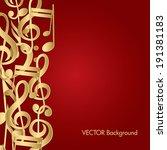 music background. | Shutterstock .eps vector #191381183