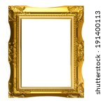 wood picture frame   isolated... | Shutterstock . vector #191400113