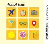 vector summer travel icons....