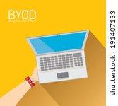 vector flat design concept of... | Shutterstock .eps vector #191407133