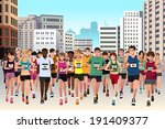 a vector illustration of group... | Shutterstock .eps vector #191409377