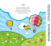frame summer landscape | Shutterstock . vector #191423333