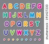 colorful paper capital alphabet ... | Shutterstock .eps vector #191427233