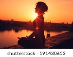yoga meditation during the... | Shutterstock . vector #191430653