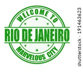 Welcome to Rio de Janeiro, Marvelous City grunge rubber stamp on white, vector illustration