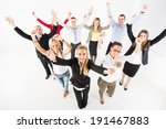 group of a happy business... | Shutterstock . vector #191467883