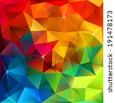 Rainbow Colors Triangular...