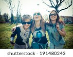 three beautiful friends... | Shutterstock . vector #191480243