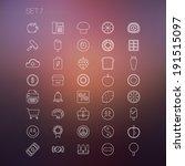 thin icon set 7 | Shutterstock .eps vector #191515097