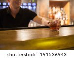 cocktail on bar with bartender. ... | Shutterstock . vector #191536943