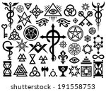 medieval occult signs and magic ... | Shutterstock . vector #191558753