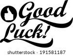 Good Luck Hand Lettering