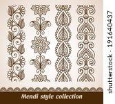 ornamental seamless borders.... | Shutterstock .eps vector #191640437