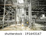 interior of a modern brewery ... | Shutterstock . vector #191643167