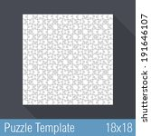square jigsaw puzzle template... | Shutterstock .eps vector #191646107