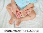 mother hold arms of newborn baby | Shutterstock . vector #191650313