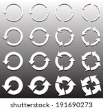 sixteen rotate arrow icon sign. ... | Shutterstock .eps vector #191690273