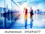 silhouettes of two businessman... | Shutterstock . vector #191691677