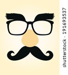 vector illustration of a funny... | Shutterstock .eps vector #191693537