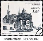 mexico   circa 1980  a stamp... | Shutterstock . vector #191721107
