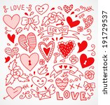 vector set of hand drawn design ...   Shutterstock .eps vector #191729537